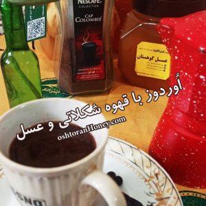 قهوه شکلاتی با عسل