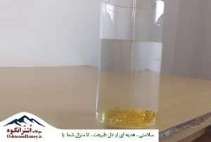 تست تشخیص عسل طبیعی با آب سرد